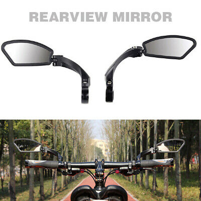 Universal Bicycle Bike Cycle Handlebar Rear View Rearview Mirror Rectangle Back • 24.99£