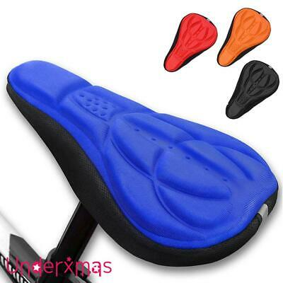 Cycling Bike Bicycle Extra Comfort Silicone Seat Saddle Cover Pad Gel Cushion • 1.79£