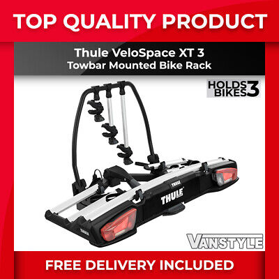Thule Velospace Xt 3 Bike Bicycle Cycle Holder Rack Towbar Ball Carrier 13-pin • 499.99£