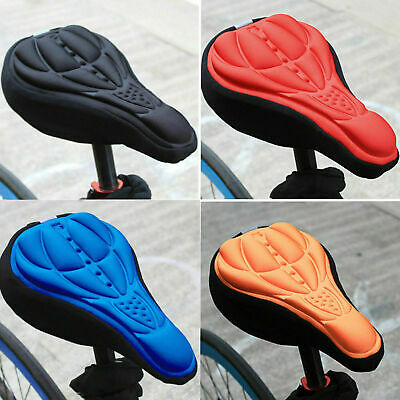 Cycling Bicycle Bike Silicone Saddle Seat Cover 3D Gel Cushion Soft Pad Soft • 5.89£
