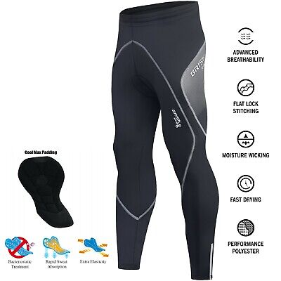 Brisk Bike Cycling Tights Padded Pants Stretchable Roubaix Material Mens • 21.99£