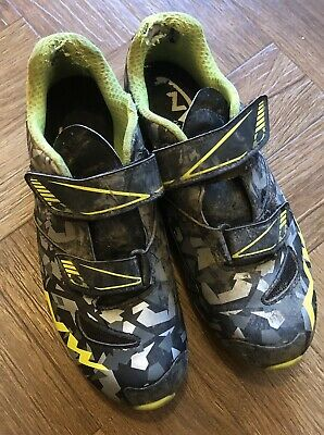 NorthWave Hammer MTB Shoes Camo Fluorescent Yellow Kids Size 5.5 UK • 0.99£