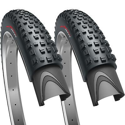 Fincci Pair 27.5 X 2.35 Foldable Tyres For Mountain MTB Dirt Bike Bicycle • 22.90£