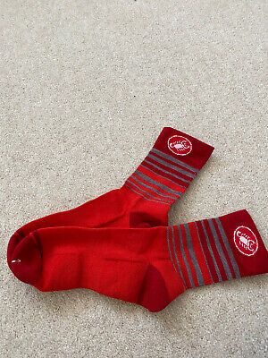 Womens Castelli Red Cycling Socks Size S • 5.50£