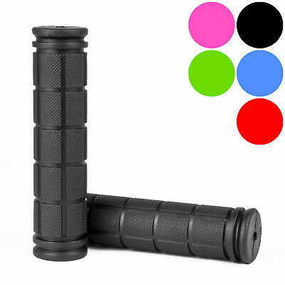 Bicycle Rubber Slip On Handlebar Grips Non-Slip Handle Bar End Grip 120mm • 2.97£