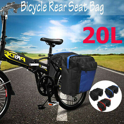 Double Panniers Bag Bike Bicycle Cycling Rear Seat Trunk Rack Pack Saddle Bag UK • 12.59£