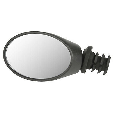 Oval Mini Bicycle Spy Mirror - Rear View - Left Or Right - Bar End Fitting • 9.99£
