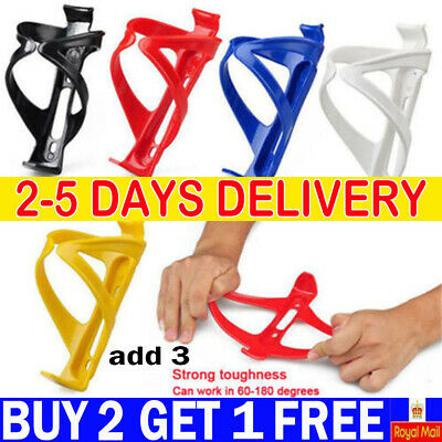 Plastic Water Bottle Cage HOLDER BRACKET For Cycling Bicycle Bike Drink AG UK • 2.39£