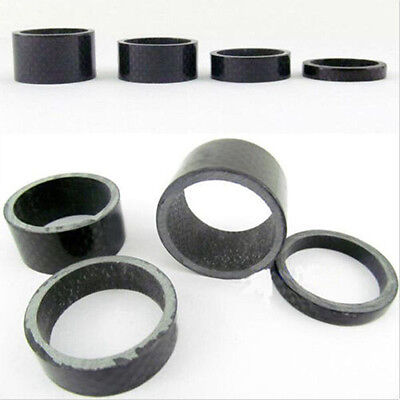 1set Carbon Fiber Headset Fork 5,10,15,20mm Washer Spacer 1 1/8 Stem Bike T Fs • 2.83£