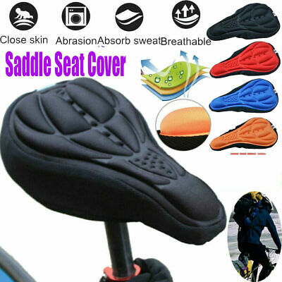 Bike Bicycle Silicone 3D Gel Saddle Seat Cover Pad Padded Soft Cushion Comfort • 3.39£