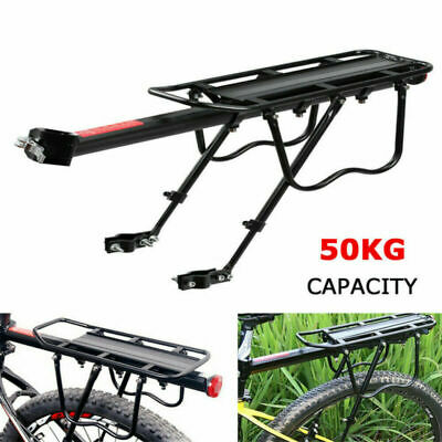Alloy Cycling Bike Bicycle Rear Rack Carrier MTB Pannier Luggage Carrier Bracket • 16.99£