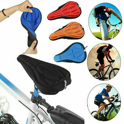Bike Bicycle 3D Gel Silicone Saddle Seat Cover Pad Padded Soft Cushion Comfort • 3.49£