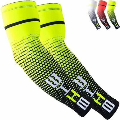 1 Pair Cycling Bike Bicycle Arm Sleeve Cover UV Protection Compression Support • 7.19£