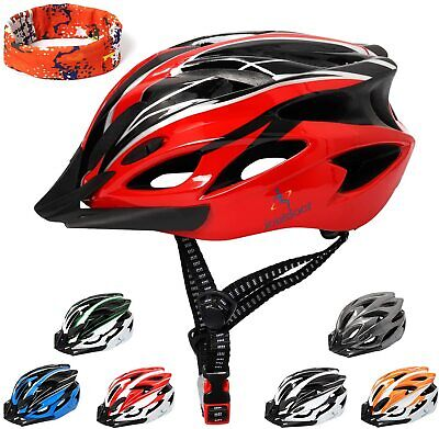CARBON FIBER Cycling Bicycle Adult Mens Womens MTB Road Bike Safety Helmet • 17.95£