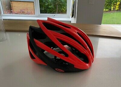 Bell Gage Cycle Helmet. 58-62cm. Large.  245g. Red/Coral And Black - Barely Used • 0.99£
