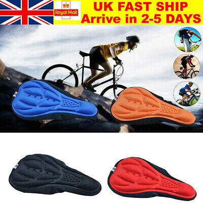 Cycling Bicycle Bike Silicone Saddle Seat Cover Non Slip 3D Gel Cushion Soft Pad • 2.99£