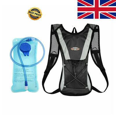 Rucksack Backpack 2L Water Bladder Bags Hydration Pack Camelbak Cycling Running • 14.99£