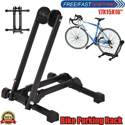 Foldable Bicycle Bike Stand Storage Display Rack Floor Parking Adjustable Holder • 10.98£