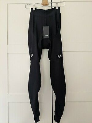 BNWT Morvelo Womens Stormshield Cycling Padded Waist Tights Size Large L • 30£