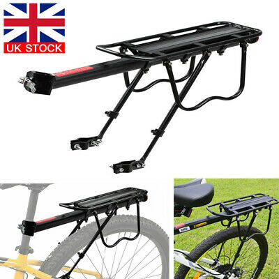 50kg Max Alloy Rear Bicycle Pannier Rack Carrier Bag Luggage Cycle Mountain Bike • 13.49£