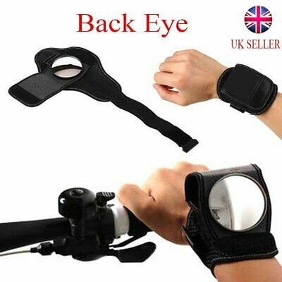 Cycling Bicycle Bike Wrist Rearview Mirror Guards Wristbands Back Eye UK • 6.99£