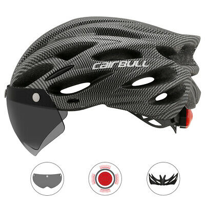 Road Mountain Bicycle Helmet Cycling Safety Helmet With Removable Visor Goggles • 19.62£