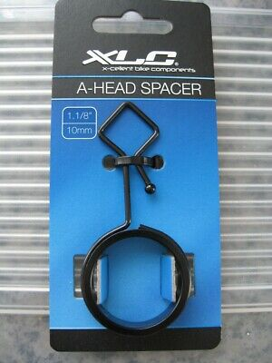 XLC Cycling Bicycle Bike A-Head Spacer &  Cable Guide Black - 1 1/8  • 4.50£