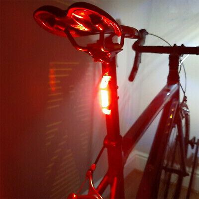 USB Rechargeable Bike Lights Front Rear Hazard Light Waterproof 5 LED Red White • 4.99£