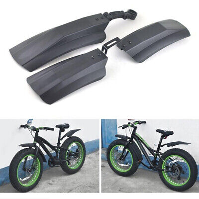 2PCS Snow Bicycle Mountain Bike Front Rear Mud Guard Fenders For Fat Tire Hs • 10.86£