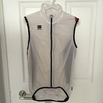 Sportful Cycling Gillet ,Bike Cycle Vest - Hot Pack - White Medium • 15£