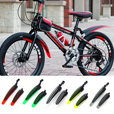 Bike Adjustable Front Rear Mud Guard Mountain Bicycle Tire Mudguards Fender Set • 6.29£