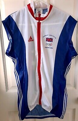 Team Great Britain Mens 2004 Athens Olympics Summer Cycling Gillet - Size Small • 10£