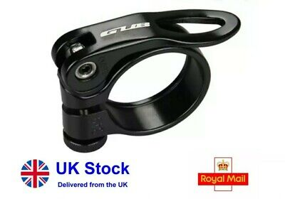 Black Bike Seat Post Clamp 31.8mm Quick Release Alloy Fixture Bicycle Mtb Road • 5.49£