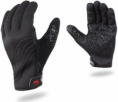 Unisex Neoprene Cycle Cycling Hunting Sailing Ski Gloves Mountain Bike • 8£
