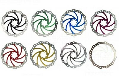 180mm 7in Vibe Disc Brake Rotor 6 Bolt IS Fixing Tough Stainless - 9 Colours • 12.99£