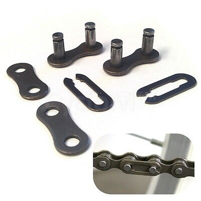 2 X CHAIN LINK SPLIT CONNECTING CHAIN BIKE BICYCLE SINGLE SPEED BMX 1/2 X 1/8 • 3.45£