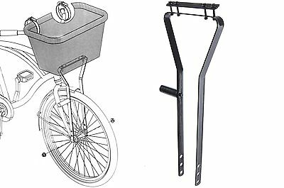 Ammaco Cycle Bike Bicycle Basket Metal Frame Support For Wire Or Wicker Baskets • 12.99£