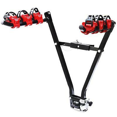 NEW! Universal 3 Bike Bicycle Tow Bar Car Mount Rack Stand Carrier • 22.99£