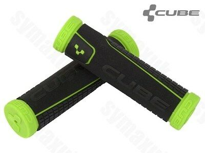 Cube Bikes MTB / Mountain Bike Handlebar Grips, Black-Green • 9.68£