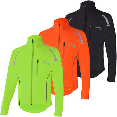 Brisk Bike Cycling Jacket  Highly Visible Lightweight Thermal Unisex Reflective • 21.99£