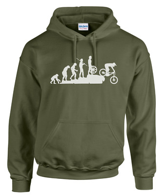 EVOLUTION OF MOUNTAIN BIKER Hooded Top/Sweatshirt/Cycling/Mountain Bike/Downhill • 25£