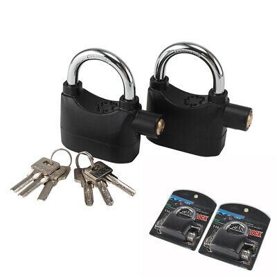 2XSecurity Motorbike Anti Theft Alarm Lock Motion Sensor Bike Padlock Waterproof • 7.99£