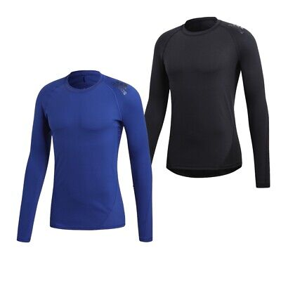 Adidas Alphaskin Long Sleeve Compression Tee Fitness Running Thermal Base Layer • 22.99£