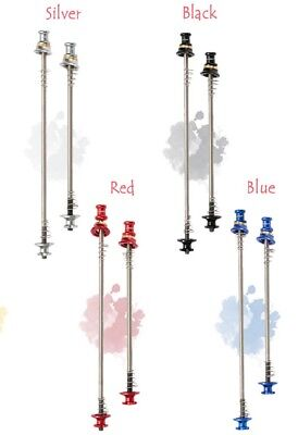 Laxida Security Titanium  Quick Release Skewers - Front & Back- Various Colours • 9.99£