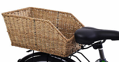 Rear Carrier Fitting Luxurious Wicker Style Bike Basket For Ladies About Town  • 22.99£
