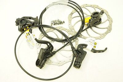 MAGURA MT2 HYDRAULIC DISC BRAKE SET + STORM ROTORS 180/160 POST MOUNT 800/1500mm • 99.99£