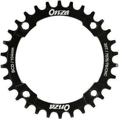 Onza Buzz Saw Chainring Lightweight Alloy CNC Narrow Wide  30T / 32T / 34T Black • 19.97£