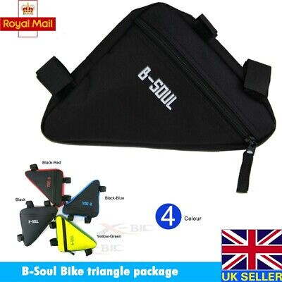B-SOUL Frame Bike Top Tube Cycling Bag Bicycle Triangle Pouch Tool Kit Package • 5.99£