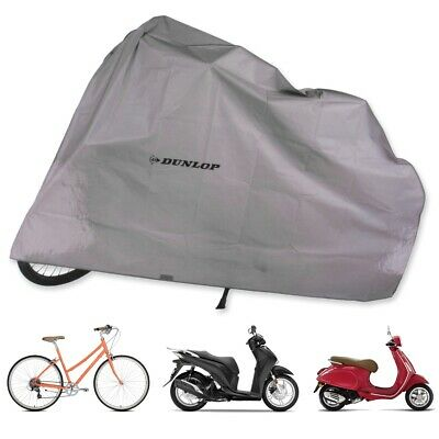 DUNLOP SCOOTER RAIN COVER Moped Bicycle Bike Weather Protector Garage Dust Sheet • 8.61£