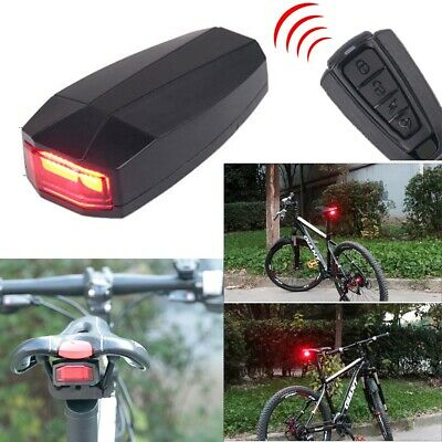 Bicycle Bike Security Lock Alarm LED Tail Light Anti-theft Remote Control 4 In 1 • 16.90£